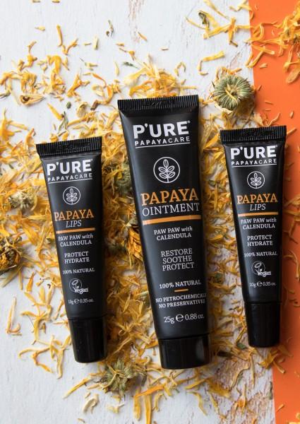 pure_papaya_pflegeset_ointment_hand_lippen