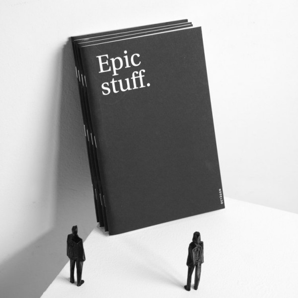 Epic Stuff | Schwarzes Notizbuch A5